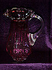 Pilgrim cranberry glass water Pitcher
