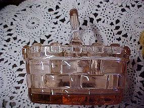 pink glass picnic basket