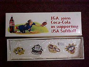 IGA olympic pin set