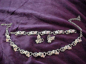 Sarah Coventry necklace, bracelet and earrings set