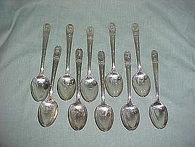 Wm Rogers silver plate president spoons