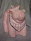 Pig with a bib cookie jar