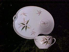 Noritake Bamboo snack set service for 4