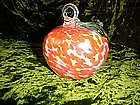 Art glass persimmon ornament