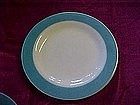 Pyrex turquoise border plate
