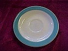 Pyrex turquoise border saucer