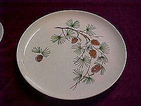 Pinecone pattern dinner plates, by Stetson