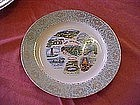 Scenic Arkansas state souvenir plate