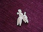Rhinestone Poodle Pin by RELI