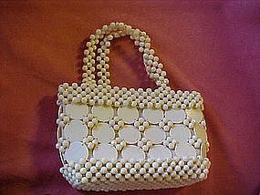 Vintage ladies plastic beaded purse