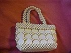 Vintage ladies plastic beaded purse