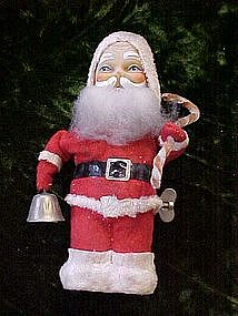 Vintage wind up Santa bell ringer