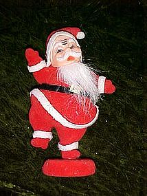 Santa flocked figurine