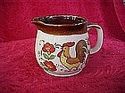 Hand painted rooster creamer