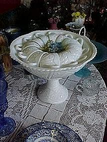 McKee Concord Milkglass punch bowl, stand,and 12 cups
