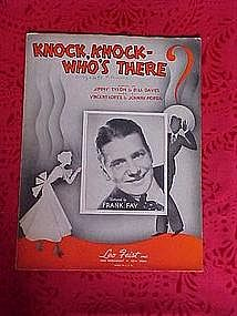 Knock,Knock,Who's There, sheet music 1936