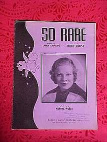 So Rare, sheet music 1937