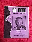 So Rare, sheet music 1937