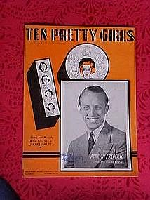 Ten Pretty Girls, sheet music 1937
