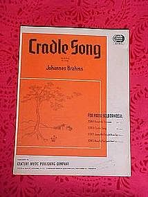 Cradle Song, Sheet music 1939