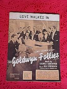 Love walked in, from the Goldwyn Follies 1938
