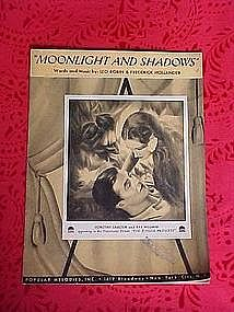 Moonlight and Shadows, sheet music 1936