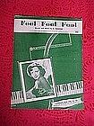 Fool Fool Fool, sheet music 1952