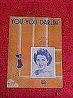 You You Darlin', sheet music 1950