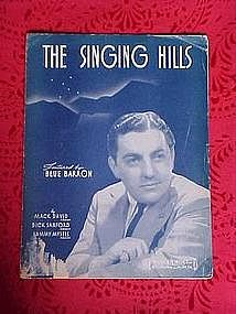 The singing Hills, sheet music 1940