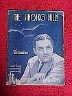 The singing Hills, sheet music 1940