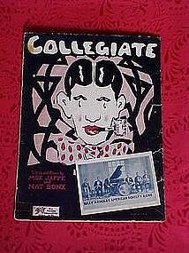 Collegiate, sheet music 1925