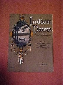 Indian dawn, sheet music  1929