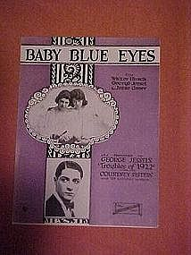 Baby Blue Eyes, sheet music 1922