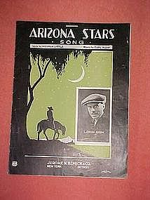 Arizona Stars song, sheet music 1923