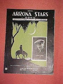 Arizona Stars song, sheet music 1923