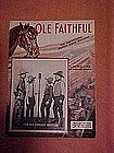 Ole Faithful, sheet music 1934