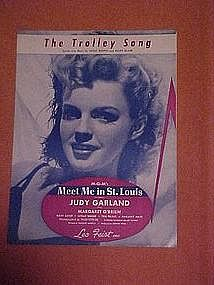 The trolley song, Judy Garland cover, sheet music 1944