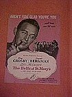 Aren't you glad you're you, sheet music 1945