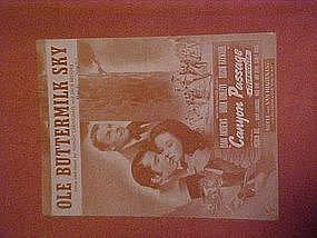 Ole Buttermilk Sky, sheet music from Canyon Passage
