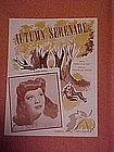 Autumn serenade, sheet music featuring Dinah Shore
