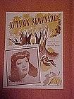 Autumn serenade, sheet music featuring Dinah Shore