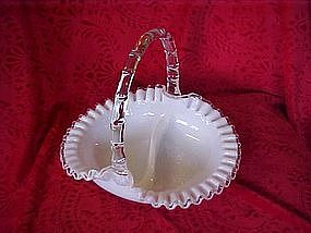 Fenton Silvercrest divided basket 1958-59