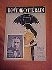 Don't mind the rain, sheet music 1924