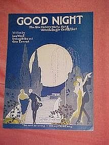 Good Night, deco art sheet music 1923