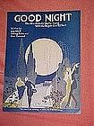 Good Night, deco art sheet music 1923