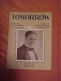 Tomorrow, by Hirsch & Spitalny, sheet music 1927