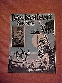 Bam Bam Bamy Shore, sheet music 1925