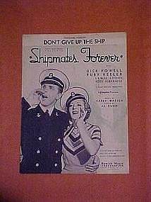 Don't Give up the Ship, from Shipmates Forever 1935