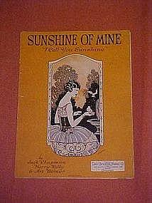 "Sunshine of Mine ""I call you sunshine""  music 1923"