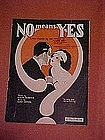 No means Yes, fox trot music 1923